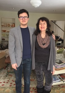 Lucas Colbert-Carreiro (ILR '15), current Class of 1973 Scholarship recipient, with his mother Dr. Colleen Colbert '73