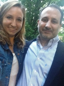 Rachel Stein '18 with her father Peter Stein, MEng '84.