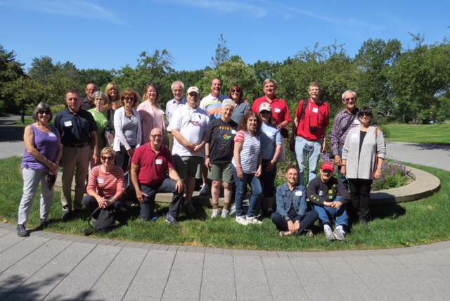 Classmates from 1970 - 74 at the Queens Botanical Garden