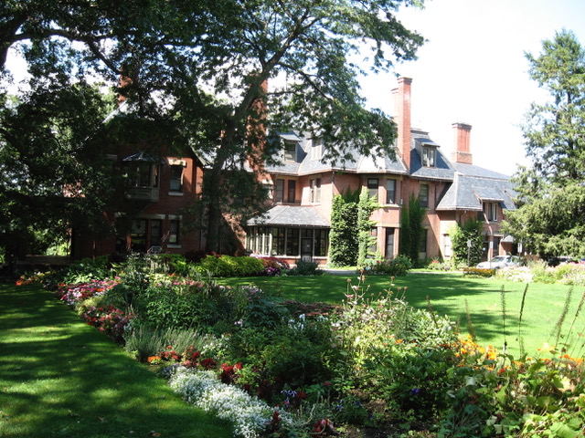 Our Saturday evening reception will be at the A. D. White House and garden.